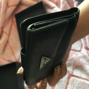 Prada Bags - Prada Black Leather Wallet